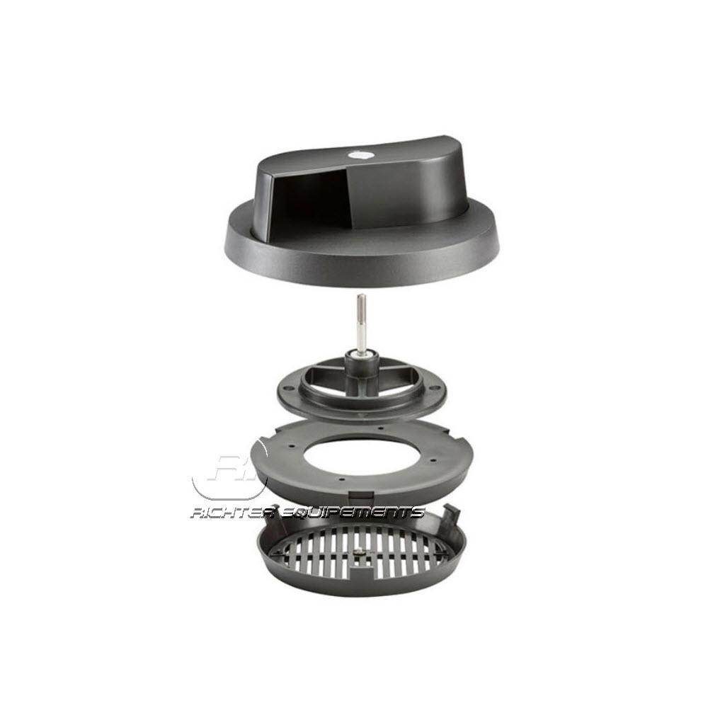 pièces détachées Aérateur de toit rotatif Flettner noir