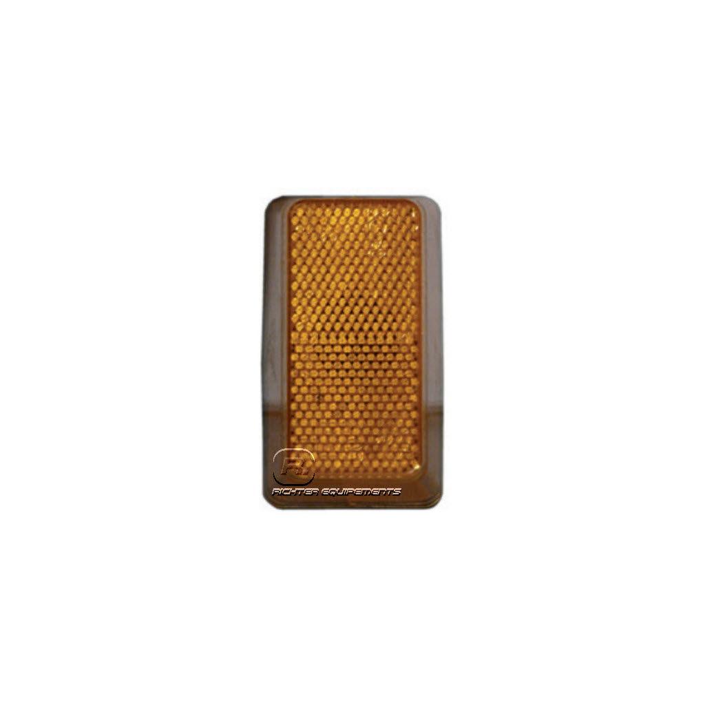 Cabochon seul pour feu de position latéral ML orange avec catadioptre