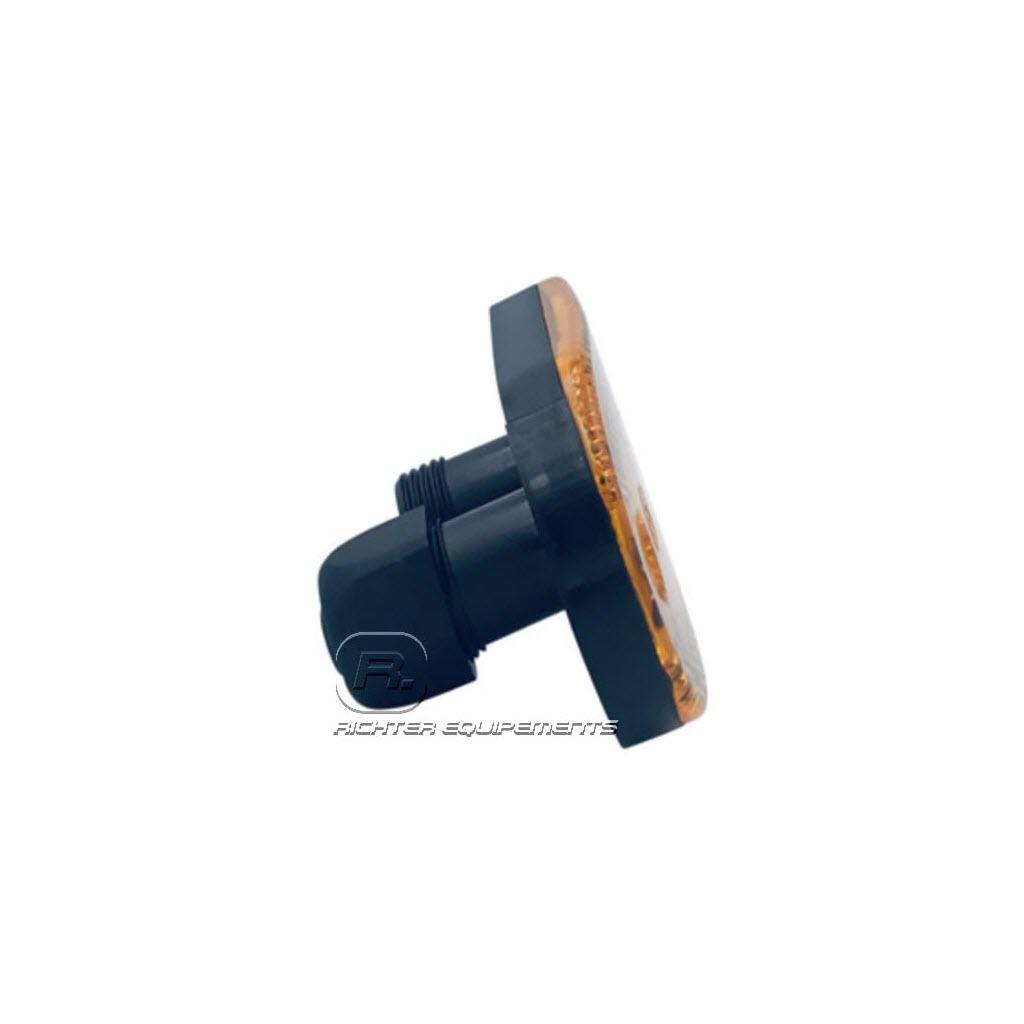 Feu ML LED à fixation à plaquer avec 2 connecteurs vue laterale
