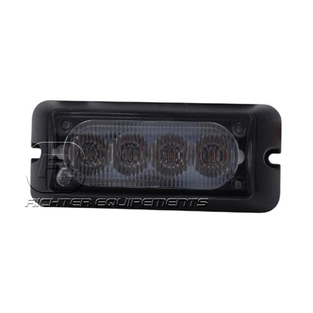 Feu de pénétration Orange 4 LED R65 1224V