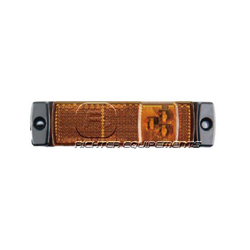 Feux de position LED rectangle à plaquer pour remorque