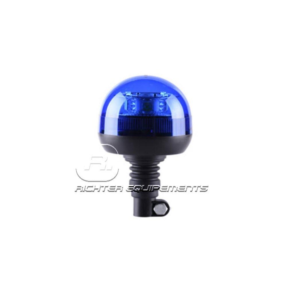 Gyrophare LED magnétique bleu