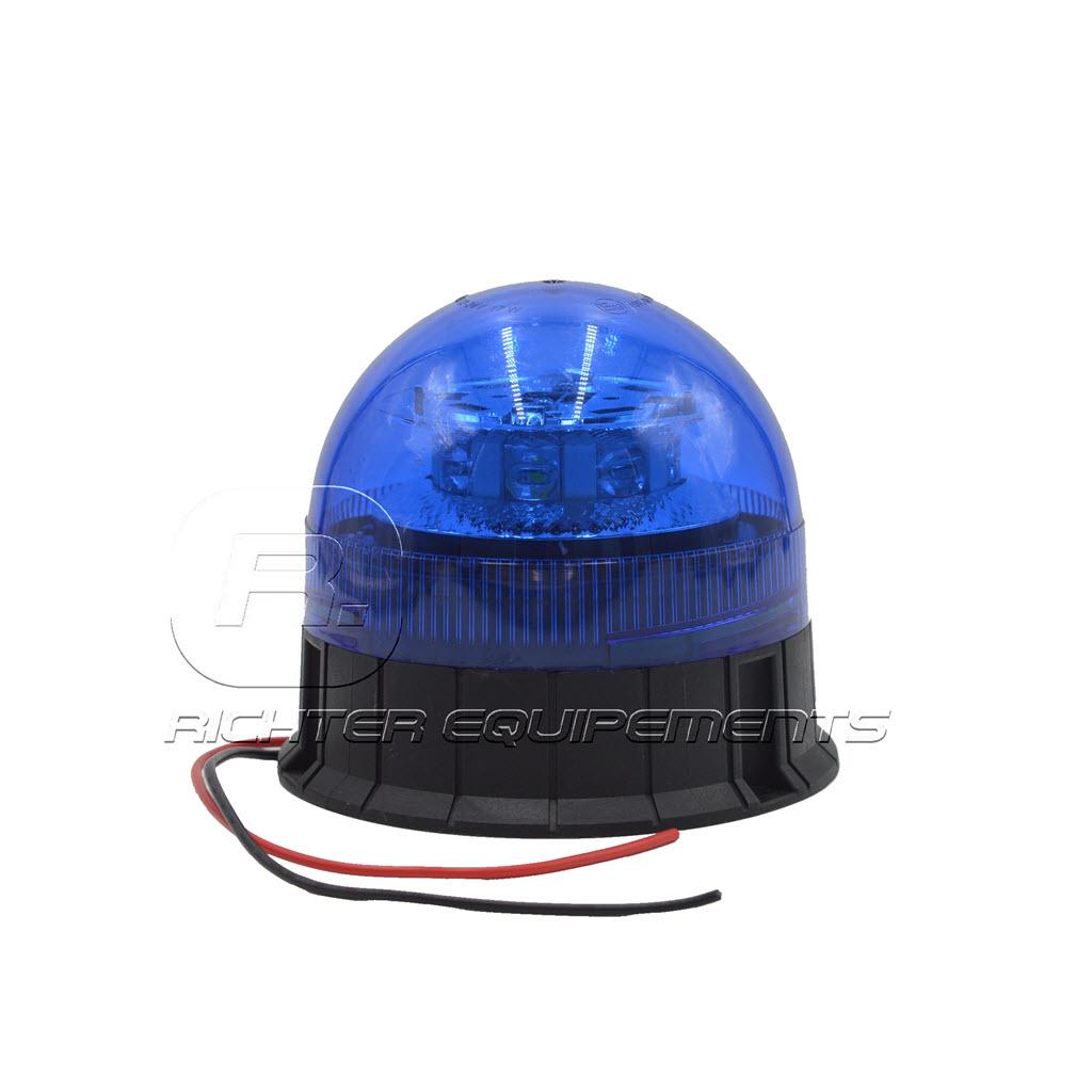 Gyrophare LED bleu 12-24 volt avec fils d'alimentation électrique