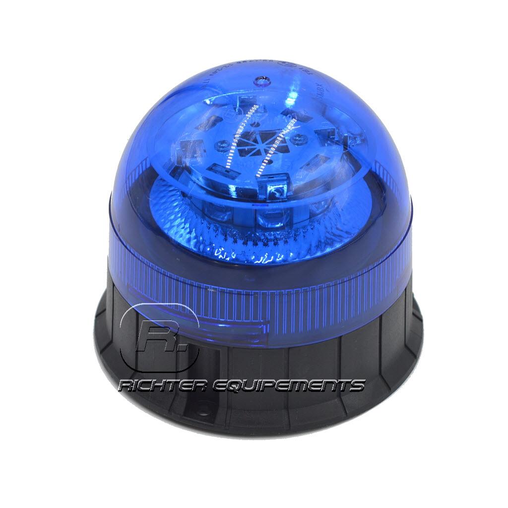 Gyrophare LED bleu 12-24 volt vue générale