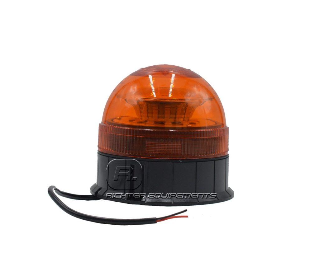 Gyrophare LED orange 24v avec fils électriques connecteurs