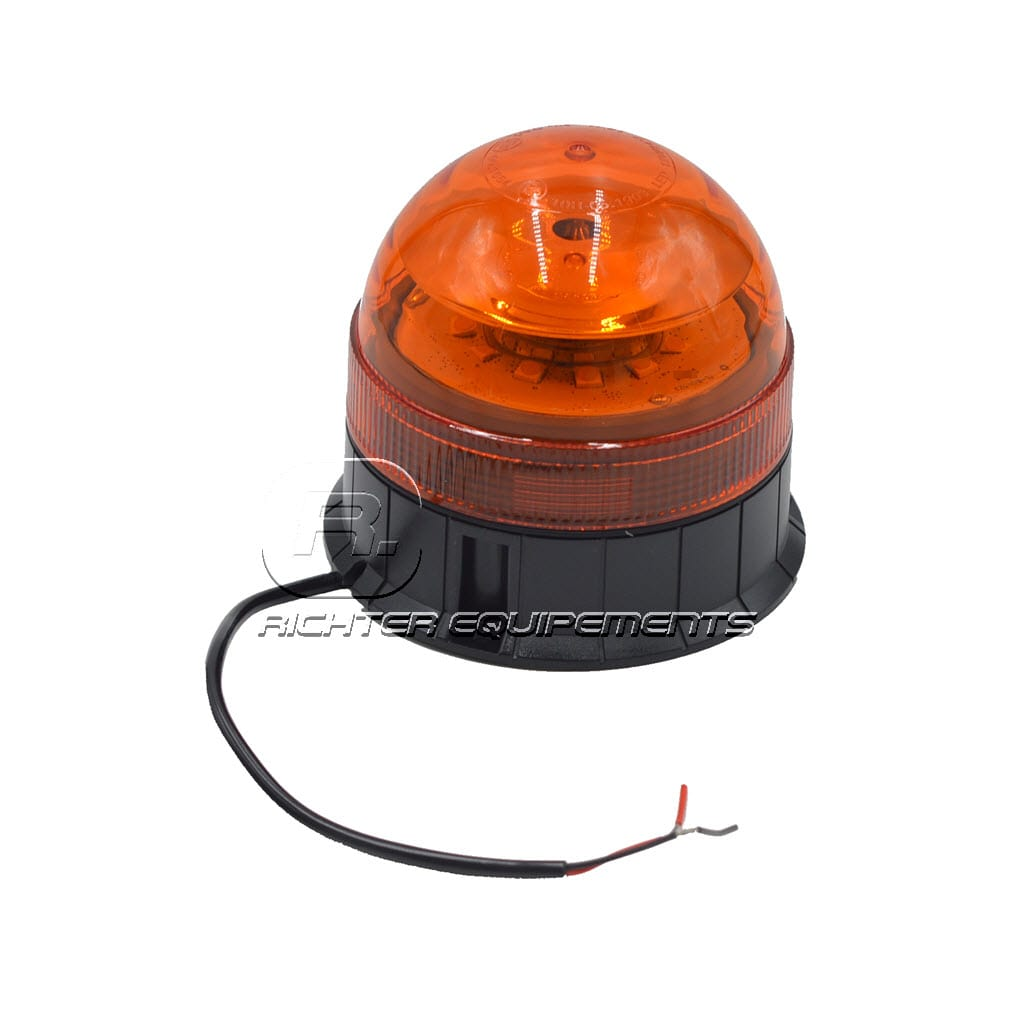 Gyrophare LED orange 24v avec fils connecteurs