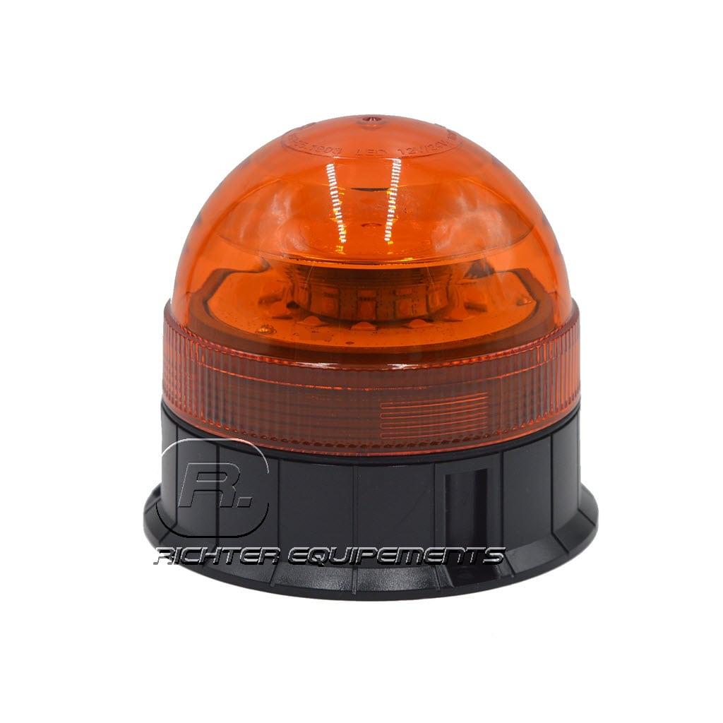 Gyrophare LED orange 24v vue frontale
