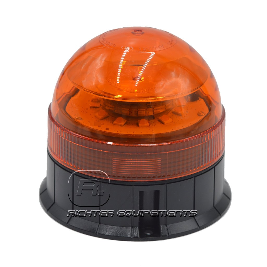 Gyrophare LED orange 24v vue sur l'intérieur