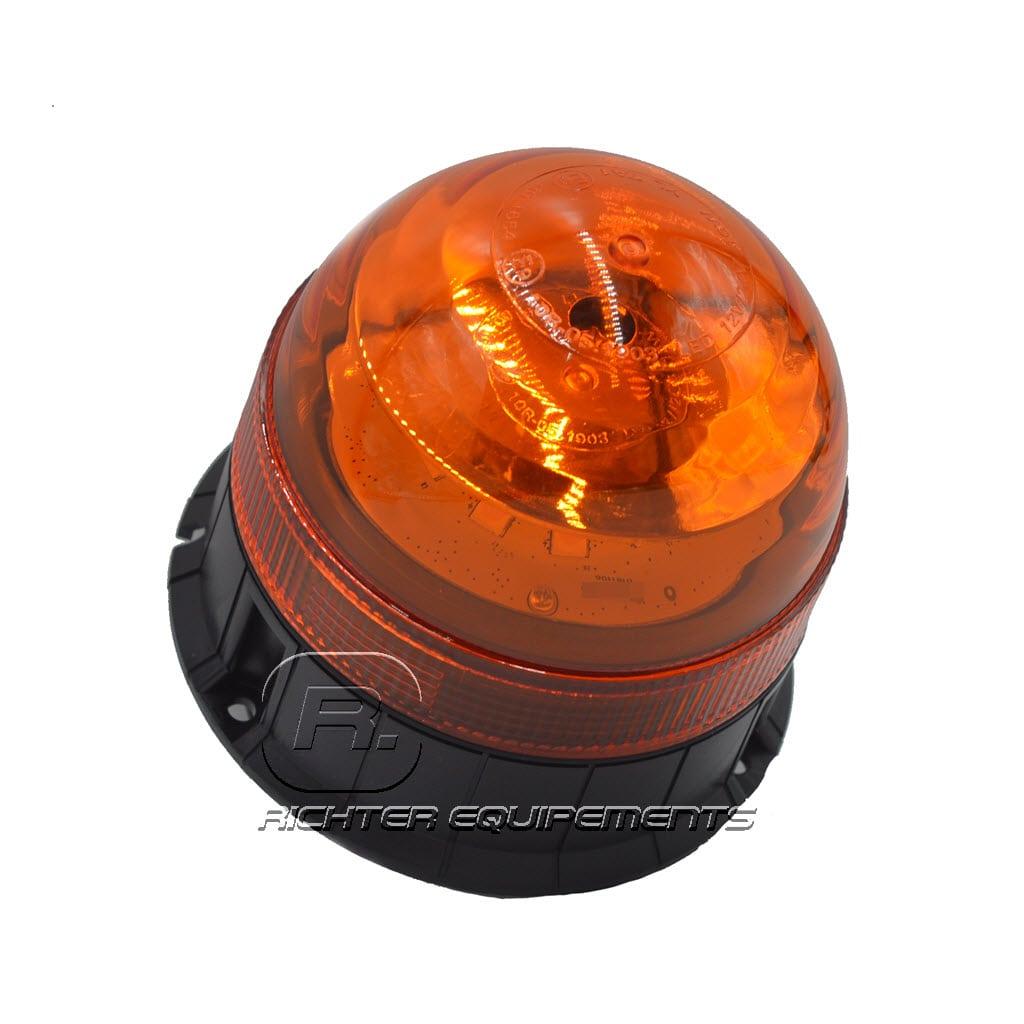 Gyrophare LED orange 24v vue latérale