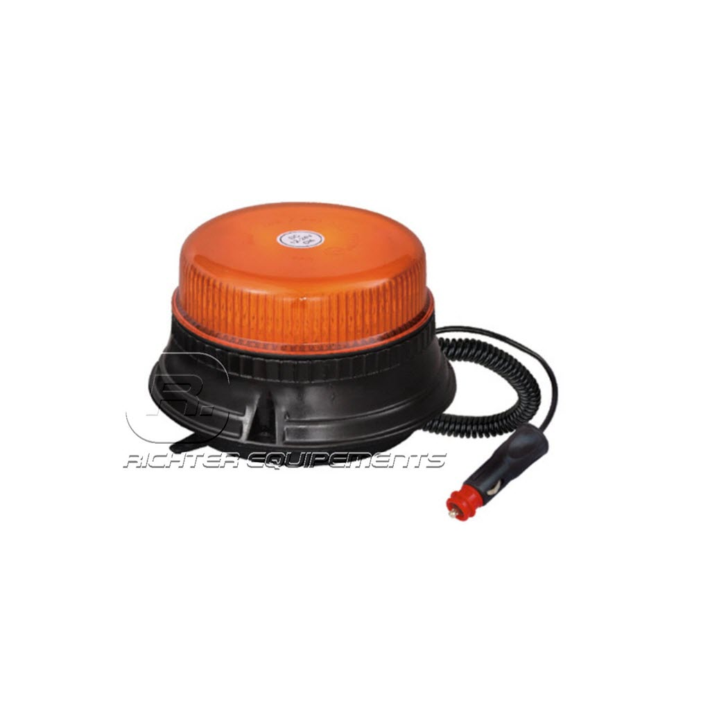 Gyrophare LED rotatif orange magnétique allume cigare