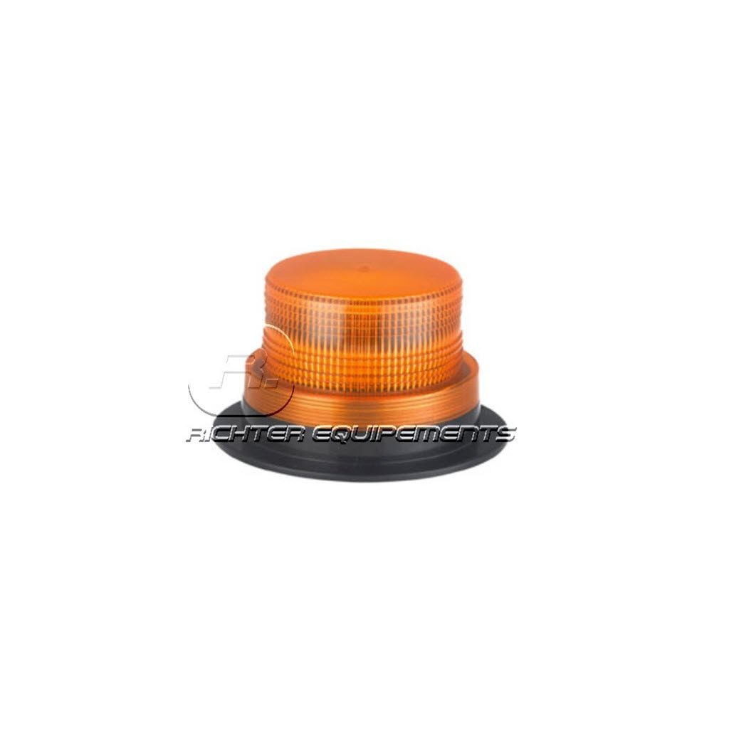 Gyrophare LED rotatif orange plat à fixation magnétique