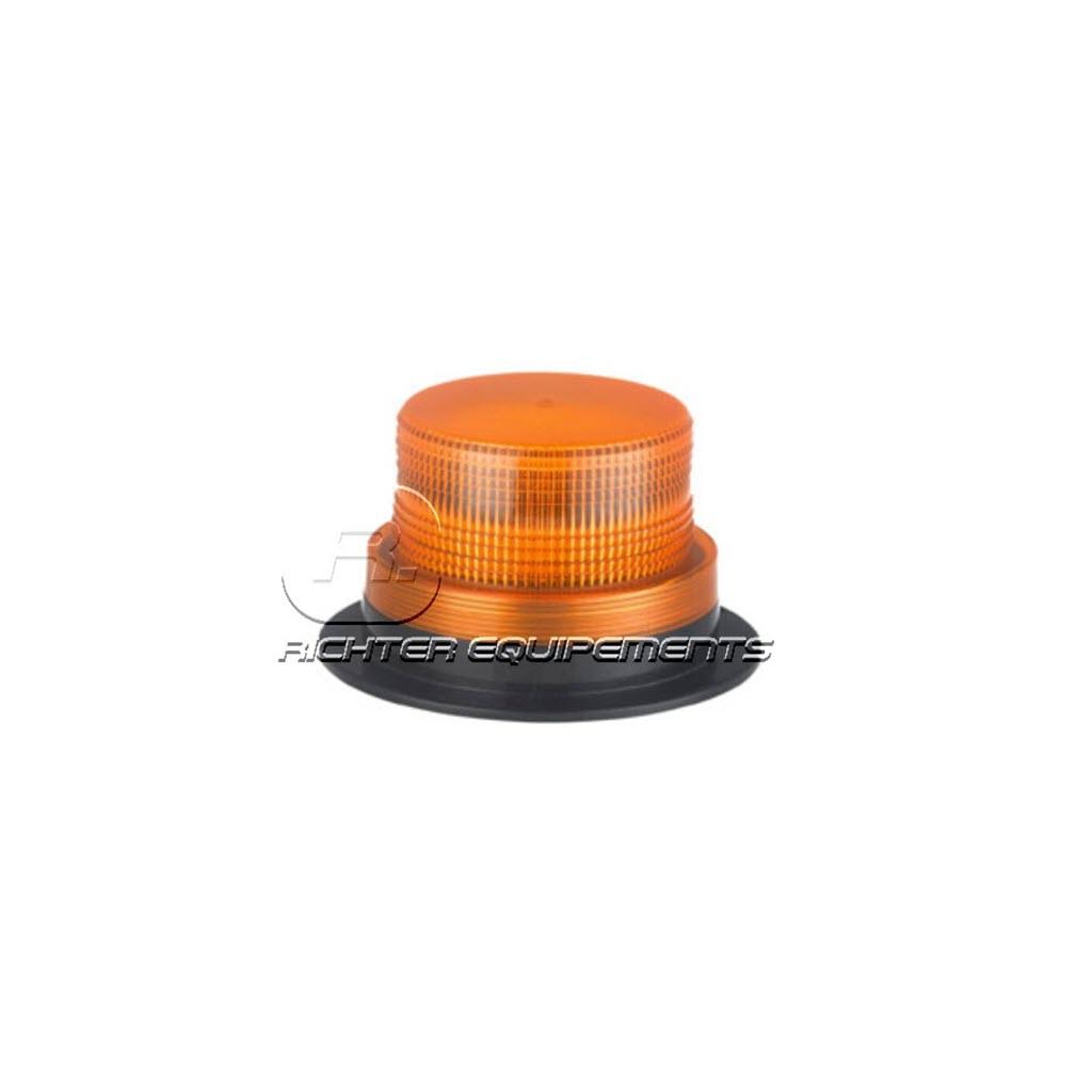 Gyrophare LED rotatif orange plat à fixation magnétique