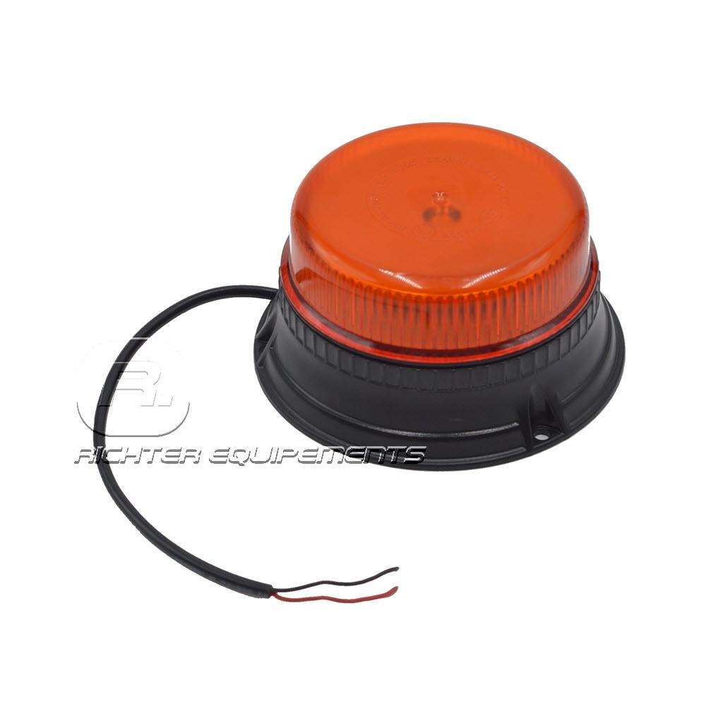 Gyrophare led orange et plat avec câbles connecteur