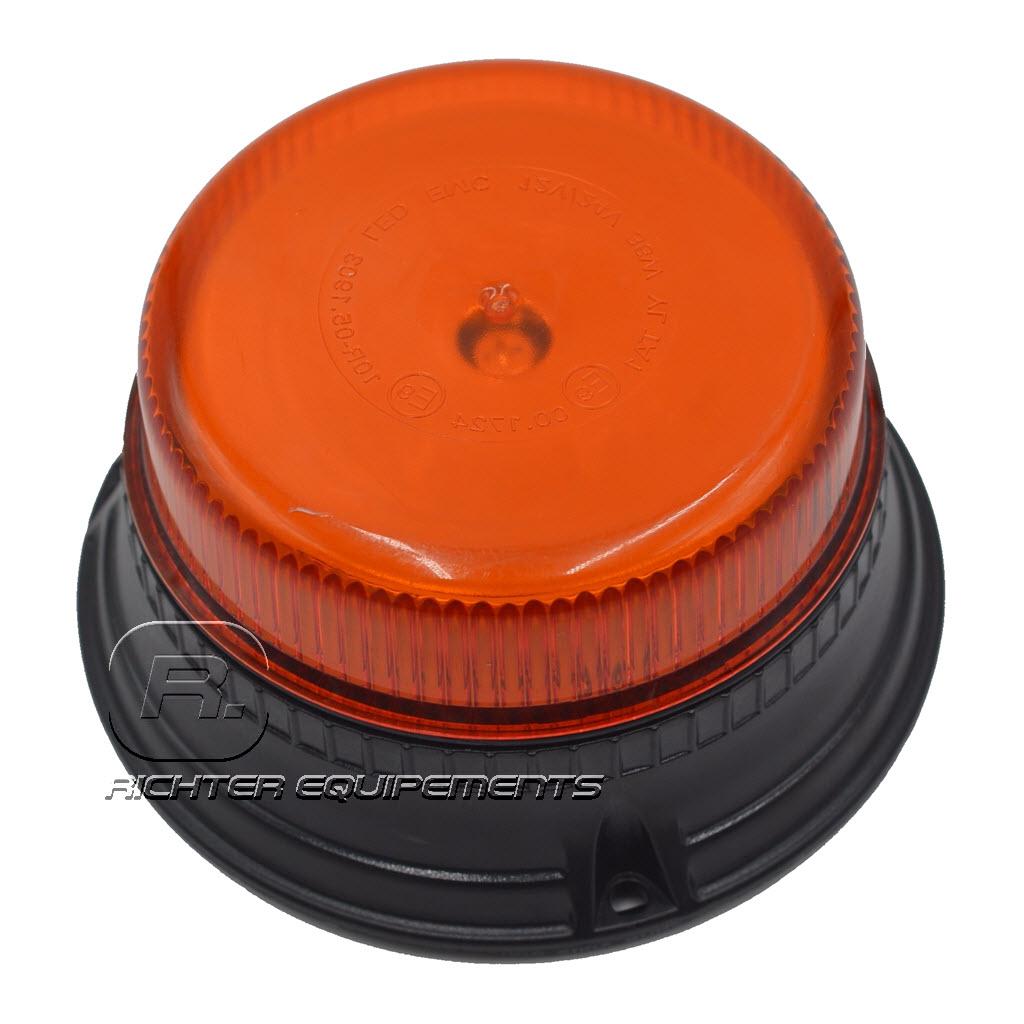 Gyrophare led orange et plat gros plan