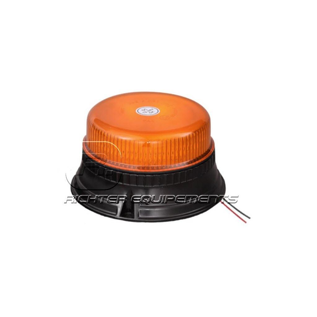 Gyrophare LED rotatif orange plat
