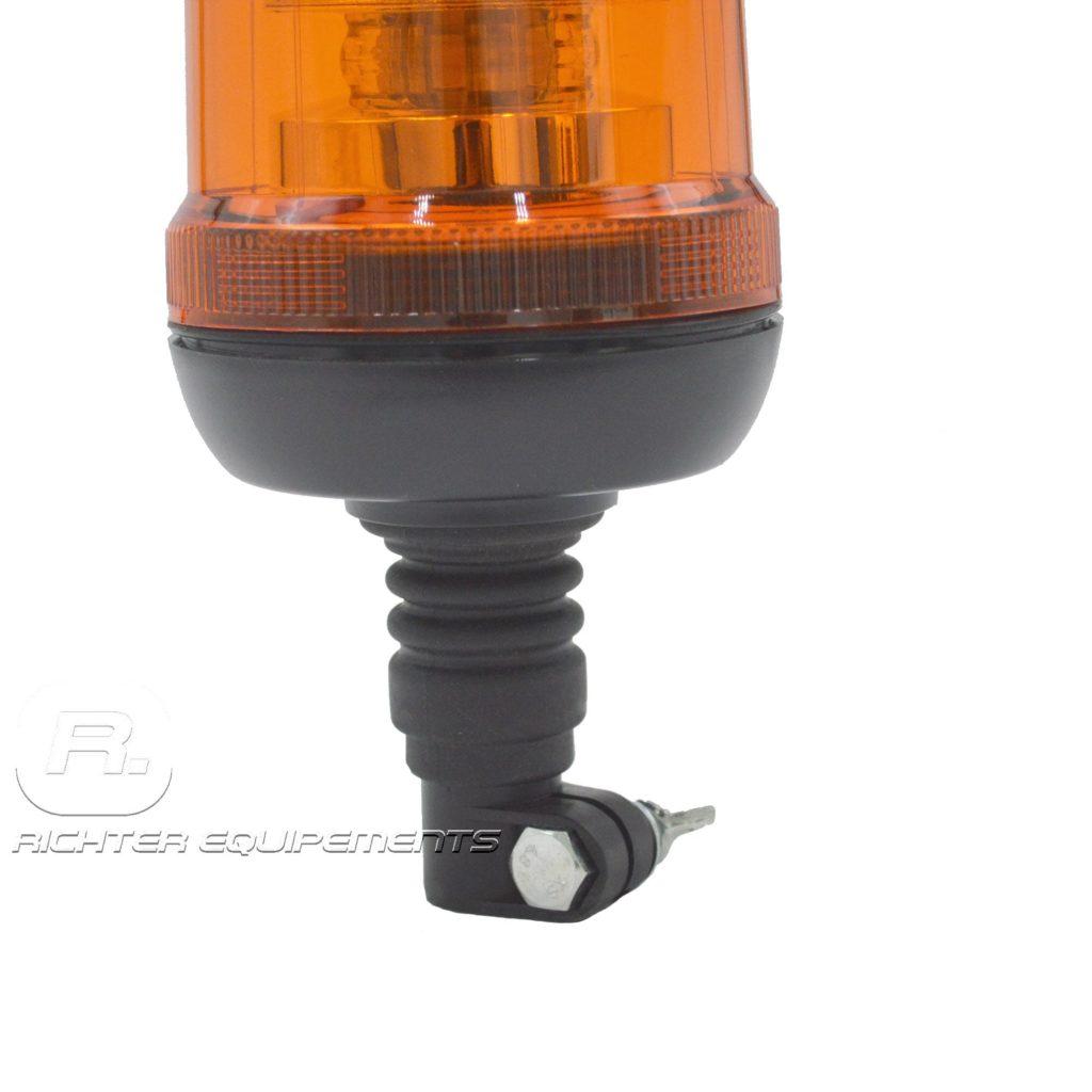 Gyrophare led orange poids lourd avec fixation sur hampe