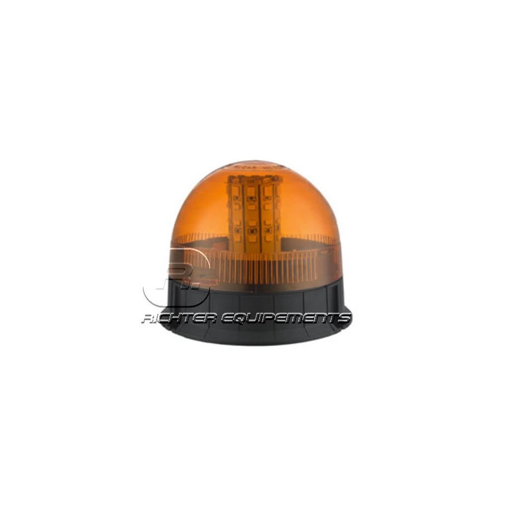 Gyrophare LED rotatif orange et rond