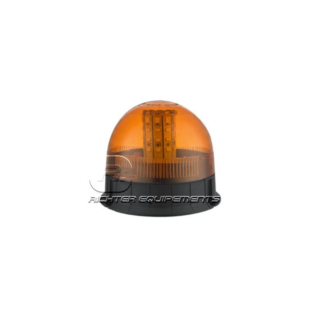 Gyrophare LED rotatif orange et rond