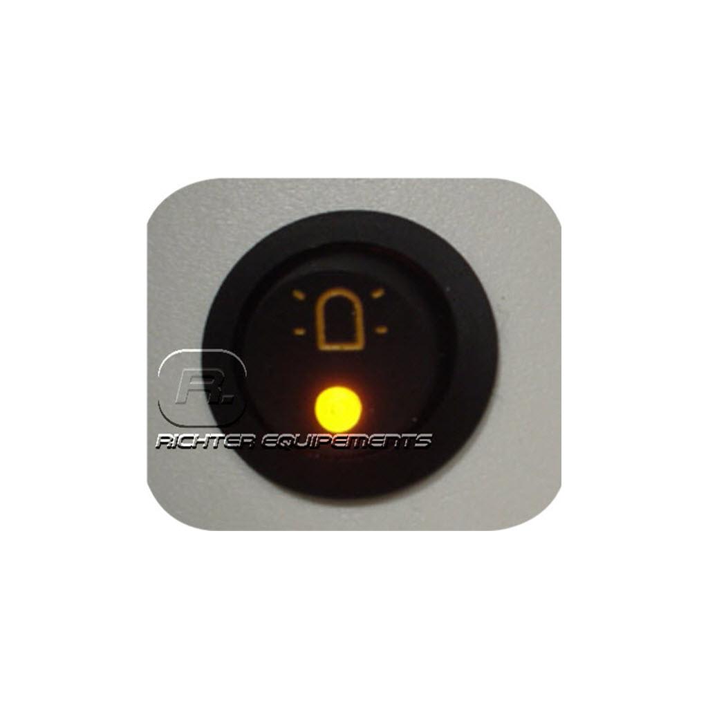 Interrupteur à symbole gyrophare