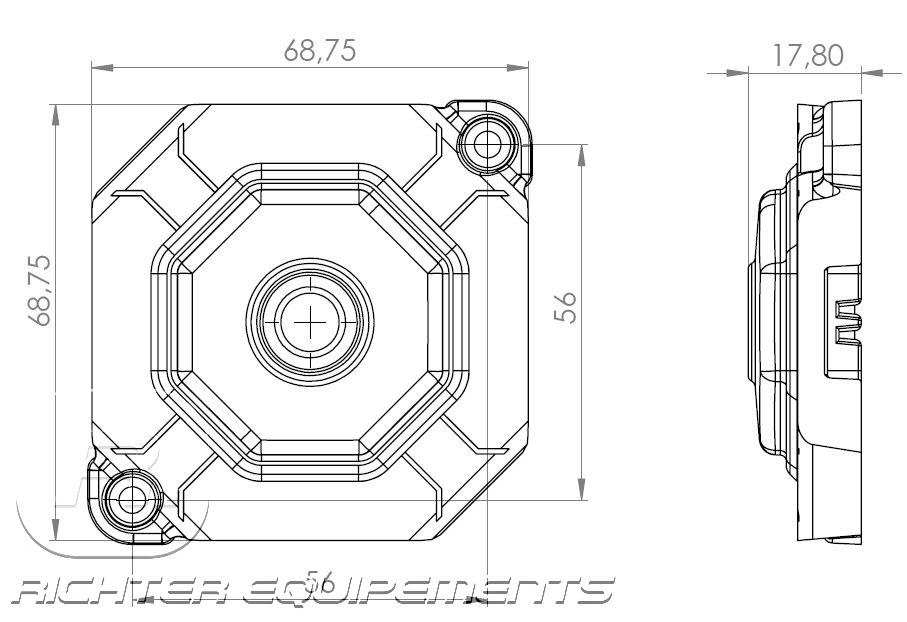 Plafonnier LED 12v interrupteur temporisé à détection de présence maquette