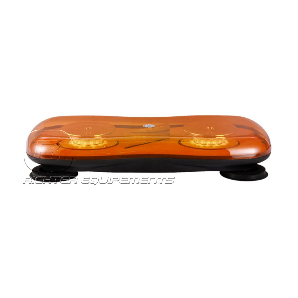 Rampe de gyrophare LED magnétique orange mini