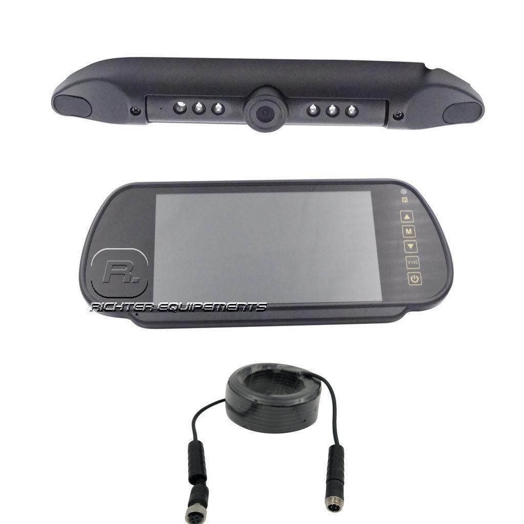 Kit camera de recul plate avec moniteur rétroviseur