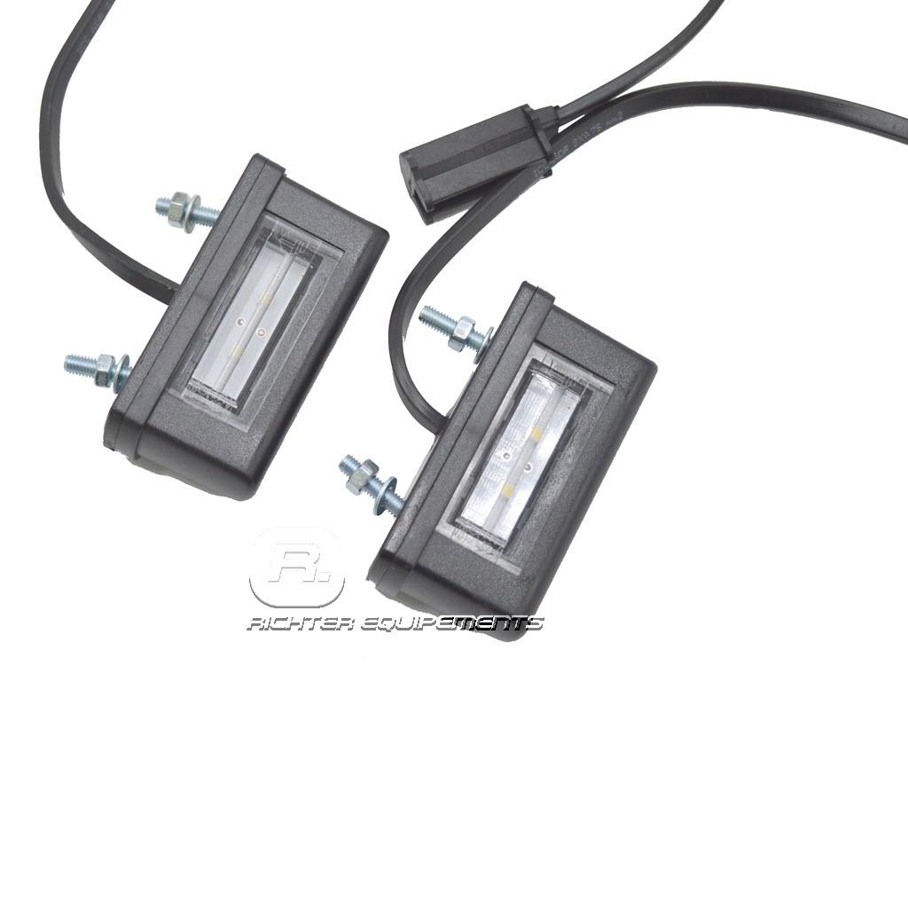 Eclaireur de plaque à led avec sur sur câble d'alimentation