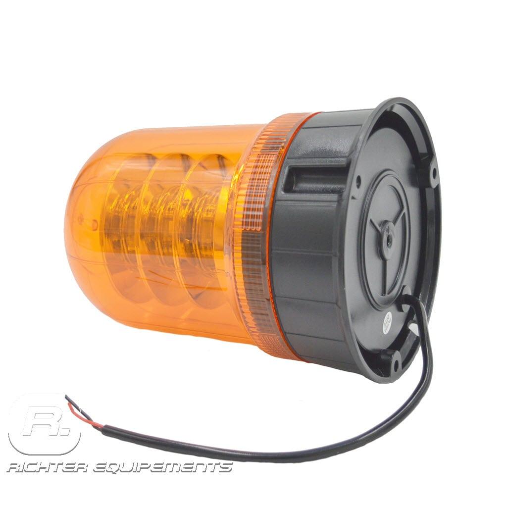 Gyrophare led orange poids lourd vue de coté