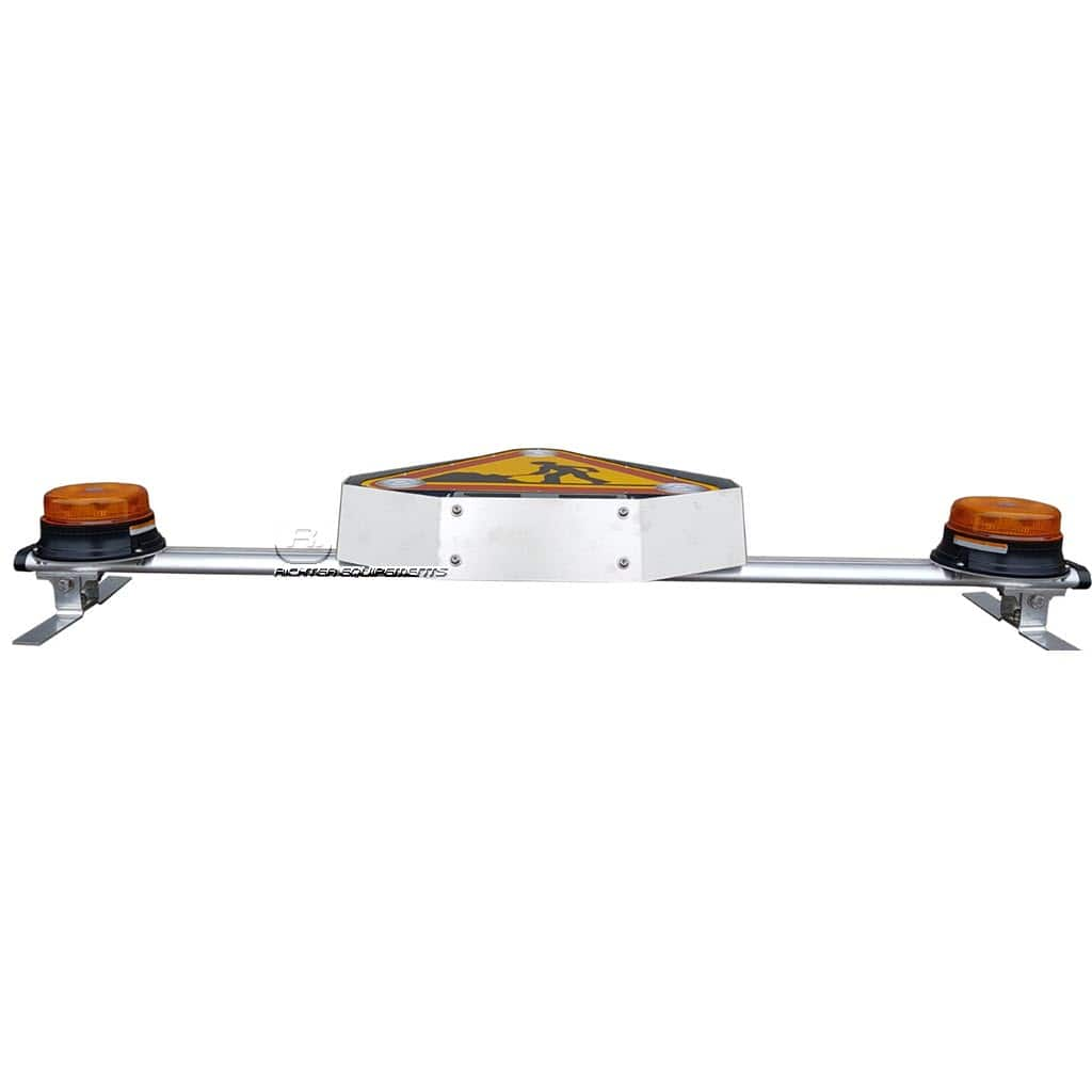 Barre équipée triflash LED rabattue