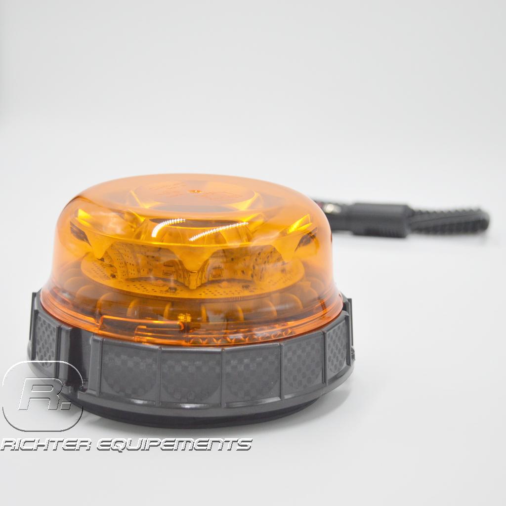 Mini gyrophare led rotatif vue frontale