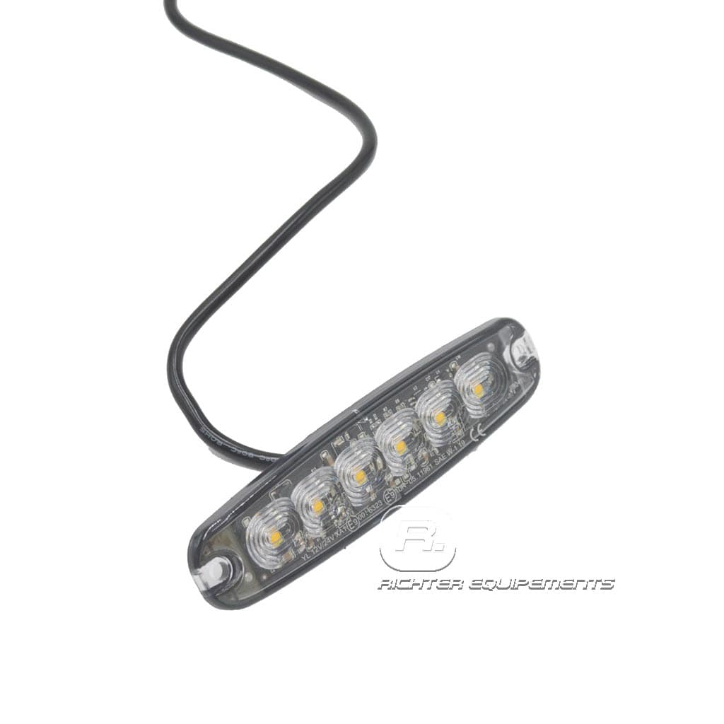 Feu de penetration autocollant avec vue sur câble d'alimentation 12-24 volt