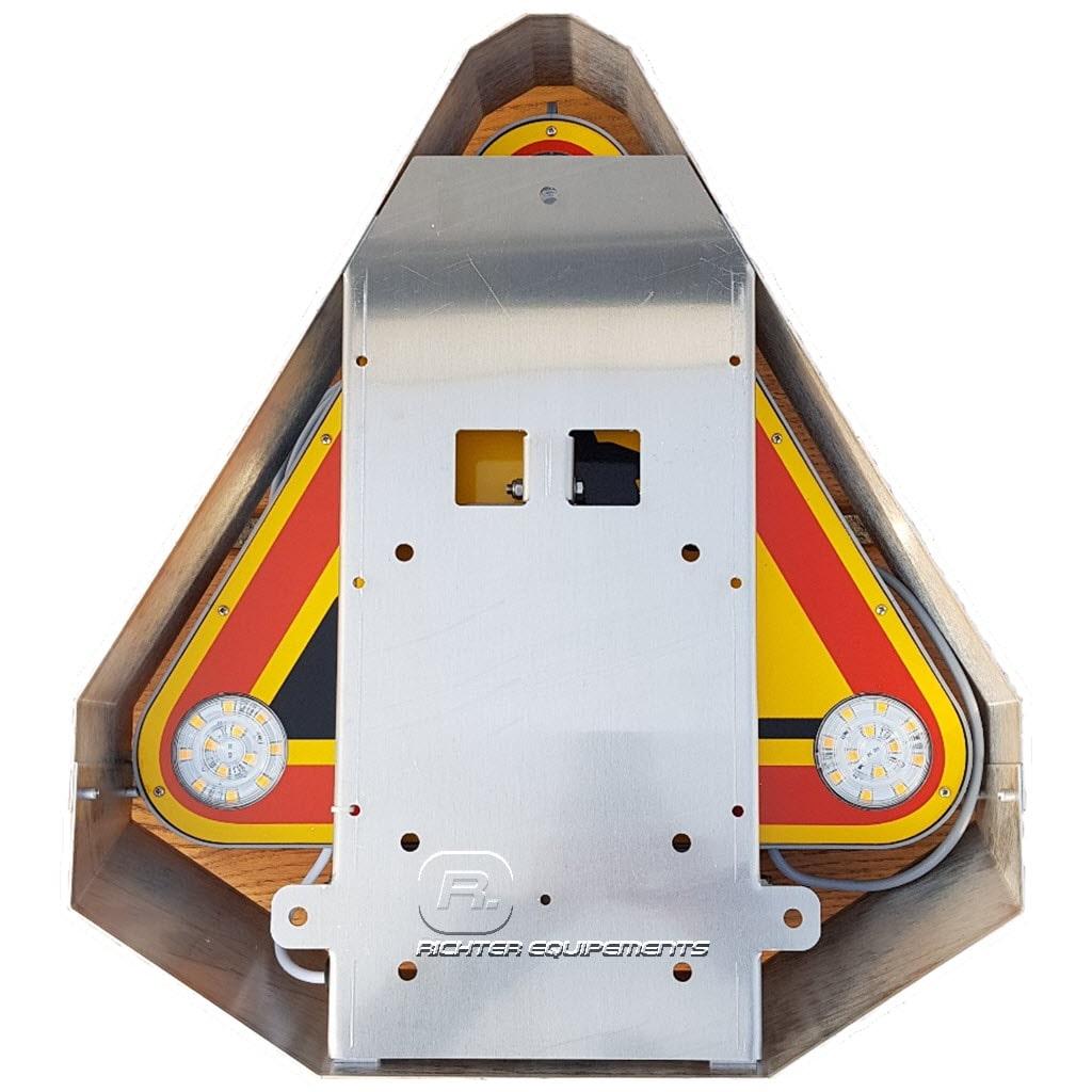 Tiflash led à relevage électrique 500mm en aluminium rabattue