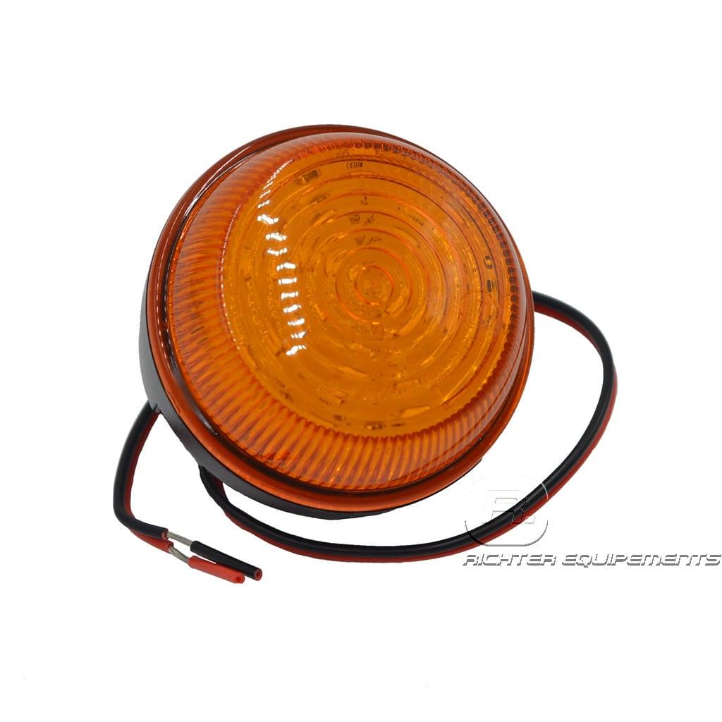 Gyrophare flash led avec feux à éclat vue frontale