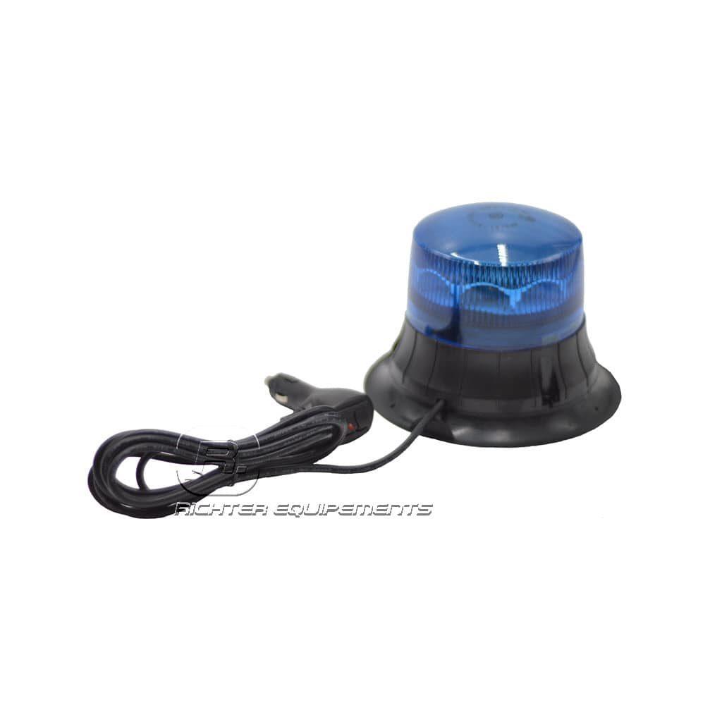 Gyrophare led rotatif bleu connexion allume-cigare