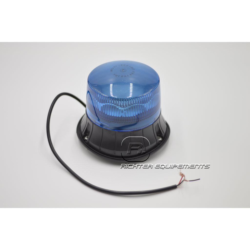 Gyrophare Led rotatif bleu et son câble d'alimentation