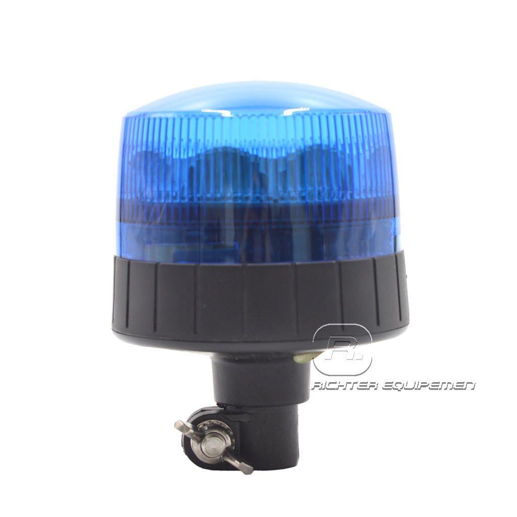 Gyrophare led rotatif bleu monté sur hampe