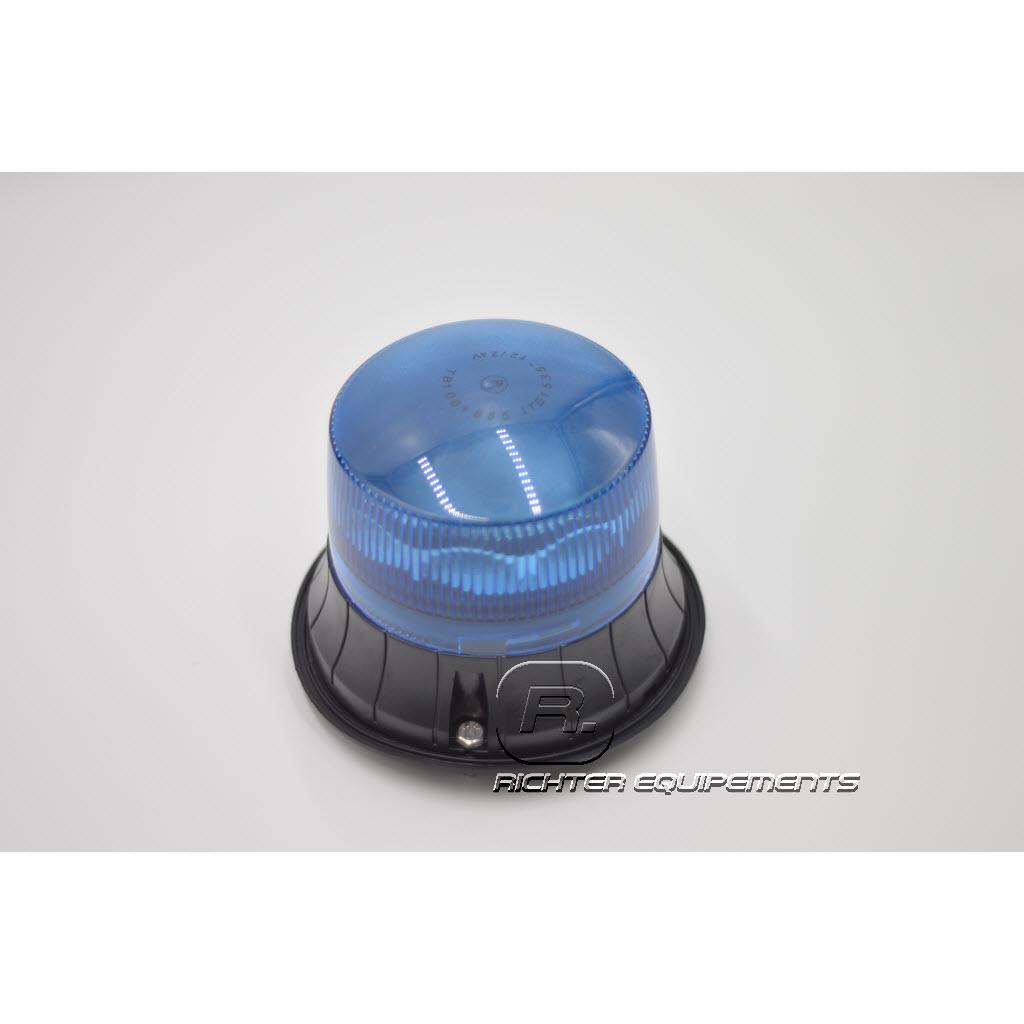 Gyrophare Led rotatif bleu vue du dessus