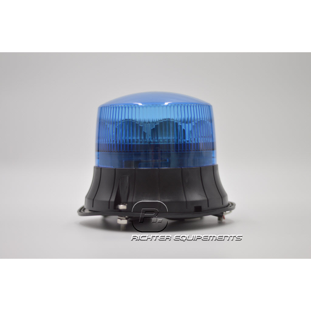 Gyrophare Led rotatif bleu vue frontale