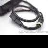 Phare de travail led avec camera vue sur câbles d'alimentation et de connexion